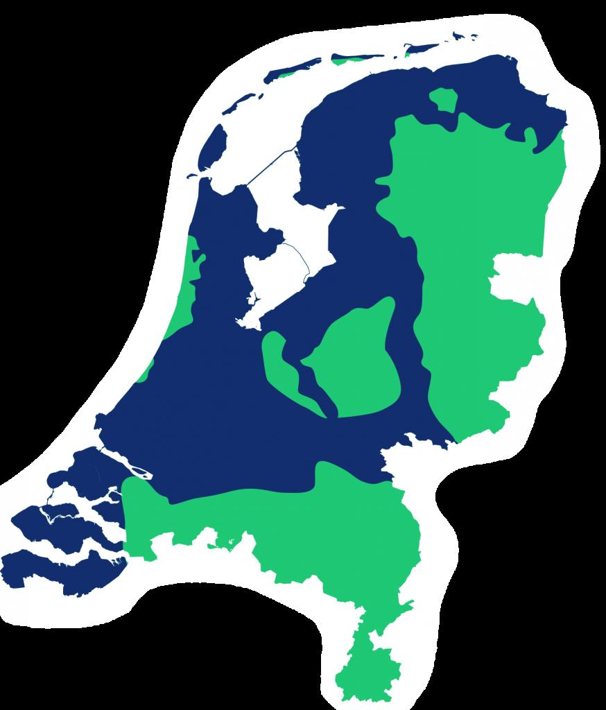 Nederland overstromingsgebied bij dijkdoorbraak