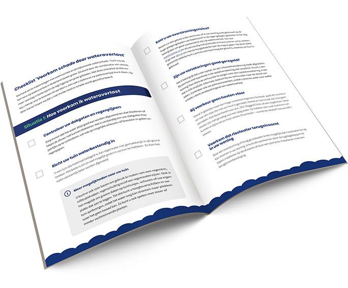 Tips bij wateroverlast checklist - open boek
